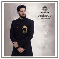 To buy visit our store in Chandni Chowk or inbox to book an appointment with our Fashion Consultant. Mens Hottest Fashion, Mens Fashion, Mens Ethnic Wear, Mens Sherwani, Wedding Wear, Persona, Hot Guys, Groom, Traditional