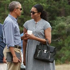 The Obamas headed back to the White House following a 16-day vacation to Martha's Vineyard   Essence.com