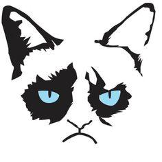Grumpy Cat Stencil