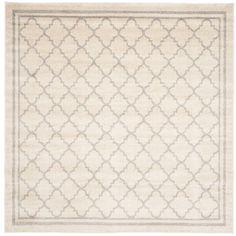 Safavieh Amherst Beige/Light Grey 5 ft. x 5 ft. Square Indoor/Outdoor Area Rug