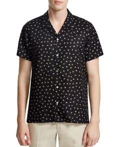 Ps Paul Smith Johnny Arrow Print Slim Fit Shirt