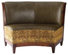 Curved Dining Banquette | All Products / Dining Products / Dining Chairs  And Benches