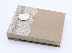 $68 - Rustic Lace polaroid Album Guest book Instax picture album by LiuMy on Etsy