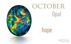October birthstone - Opal. GIA