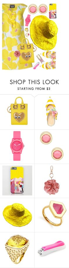 """""""Yellow with Pink Accent"""" by petalp ❤ liked on Polyvore featuring Sophie Hulme, Giannico, Skechers, Marc by Marc Jacobs, Miss Selfridge, Monica Vinader, Forever 21 and Dolce&Gabbana"""