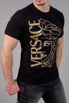 Versace Short Sleeved T shirts For Men in 64521 Versace Fashion, Versace Men, Versace Clothing, Mens Designer Shirts, Designer Clothes For Men, Designer Clothing, Cool T Shirts, Tee Shirts, Versace T Shirt