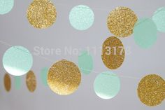 mint and gold baby shower - Google Search