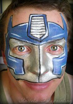 Face Painting - Optimus Prime! boy design - superhero