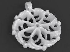 Vortex Mandala Pendant by luxxeon #shapeways #3dPrinted #vortex #pendant #jewelry #necklace #chakra #mandala #chakra #helix #spiral #SacredGeometry #knowledge #meditation #triskele #triskelion