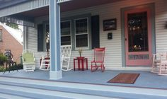 Finished restoration of a 1920s porch