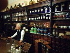 How I picture the inside of Edward Tatum's Apothecary shop in Waxahachie Spice Shop, Apothecaries, Grimm, Pills, Liquor Cabinet, Trip Advisor, Cool Style, Medicine, Awesome