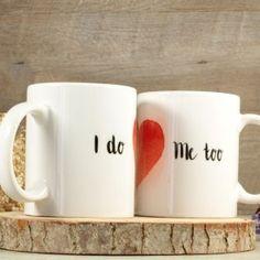 Pareja de tazas de boda Mugs, Tableware, Wedding Mugs, Personalized Wedding, Wedding Inspiration, Original Gifts, Couple, Bodas, Boyfriends