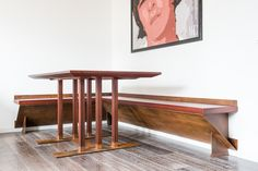 dining table made ​​of corten