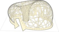 This post describes the work of Ramboll Computational Design during the design and construction of the Ongreening Pavilion timber gridshell. Parametric Architecture, Architecture Building Design, Pavilion Architecture, Parametric Design, Organic Architecture, Contemporary Architecture, Residential Architecture, Landscape Architecture, Base Nautique