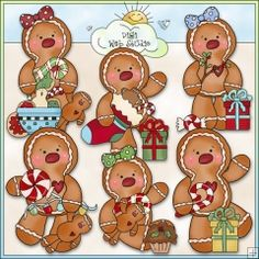 Ginger Friends Christmas Express 1 - NE Cheryl Seslar Clip Art : Digi Web Studio, Clip Art, Printable Crafts & Digital Scrapbooking!