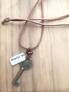 Be Strong Key Necklace, boho jewelry, key jewelry, gifts for her, gifts under 20 by JustStampItGifts on Etsy https://www.etsy.com/listing/270140489/be-strong-key-necklace-boho-jewelry-key
