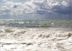 Ein Tag am Meer Poster von Claudia Burlager Digital-Art