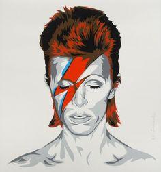 Brainwash David Bowie Aladdin Sane Album Signed for Like the Bowie Screen Print/Poster Mr. Pop Art Dibujos, Mr Brainwash, David Bowie Art, Cool Album Covers, Screen Print Poster, Insect Art, Framing Photography, Bike Art, Street Artists