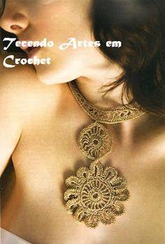 Tecendo Artes em Crochet: Colares em crochê