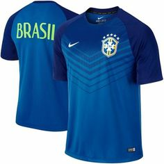 Brazil Nike 2014 World Cup Soccer Squad Performance Jersey - Royal Blue  Color