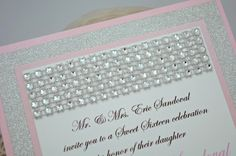 Sweet+Sixteen+Quinceanera+or+Wedding+Invitation+in+by+InviteBling,+$3.25