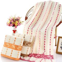 Fashion 100% Cotton Raindrop 70x140 cm Bath Towel 3 Colors