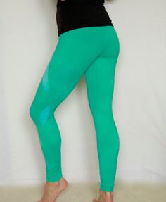 295a8d4b45bd6 Items similar to Hand Dyed Aqua Marine Leggings//Yoga//Festival//dance on  Etsy