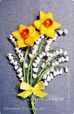 МК цветок ландыша в технике квиллинг