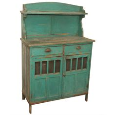 Late 19th c. Painted Rustic Argentinian Cupboard