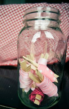 easy way to store loose ribbon...LOVE!