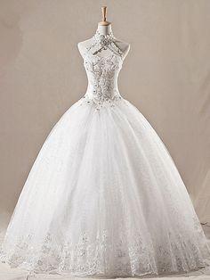 Vintage Halter Spitze Organza Kirche Hochzeitskleid Brautkleid Übergrößekleid 2013 auf Etsy, 226,52€