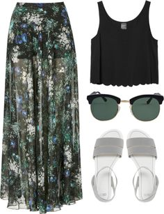 """maxi skirt"" by mrdgf-99 ❤ liked on Polyvore"