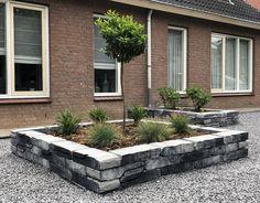 Stone Walling Naturel Grijs/Zwart 18 x 42 x 8 cm per 100 M2, Garage Doors, Patio, Stone, Architecture, Outdoor Decor, Arquitetura, Rock, Stones