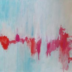 abstract painting large painting acrylic painting pink orange red modern art via Etsy.