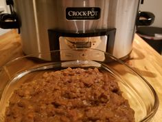 Vegan slow cooker meal. Coconut curry lentils.