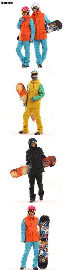 Snowsuits 62178: Waterproof Snowboarding Set Couples Windproof Breathable Ski Suit Women Men Snow -> BUY IT NOW ONLY: $179.99 on eBay!