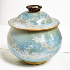 Bird's Nest ceramic keepsake box