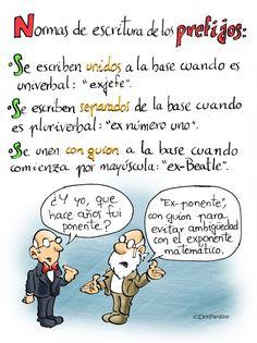 """El profesor don Pardino: """"Exponente"""" no es lo mismo que """"ex-ponente""""."""