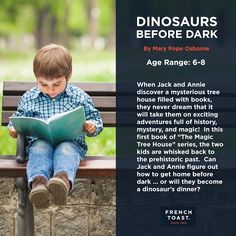 "French Toast is throwin' it back with our #TBT #BookClub pick. In this first #book of ""The Magic Tree House"" series, two #kids discover a mysterious treehouse + are whisked back to the prehistoric past. Can Jack and Annie figure out how to get home before dark...or will they become a dinosaur's dinner?"