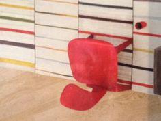 [silla de Madeira tinctures a de rojo (2)] Squadra