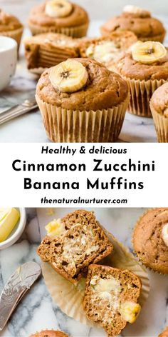 Healthy Muffin Recipes, Healthy Muffins, Healthy Dessert Recipes, Healthy Baking, Healthy Desserts, Baby Food Recipes, Sweet Recipes, Baking Recipes, Best Banana Muffin Recipe
