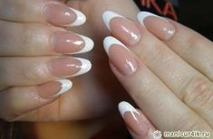 oval french nails - Google Search
