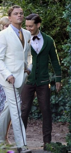 Leo and Tobey in 'The Great Gatsby' -- Costume Designer: Catherine Martin