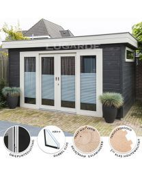 Lugarde PR15  tuinhuis Outdoor Living, Outdoor Decor, Log Cabins, Home Decor, Outdoor Life, Decoration Home, Room Decor, Wood Cabins, The Great Outdoors