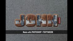 How To Create A Stitch Jeans And Leather Text Effect In Photoshop Photoshop Video, Cool Photoshop, Photoshop Tutorial, Text Effects, Photo Effects, Video Tutorials, Photo Manipulation, Stitch, Create
