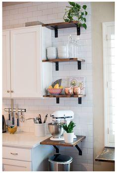 Kitchen Redo, Home Decor Kitchen, Home Kitchens, Kitchen Cabinets, Small Kitchens, Ikea Hack Kitchen, Gray Cabinets, Farmhouse Kitchen Decor, Country Farmhouse