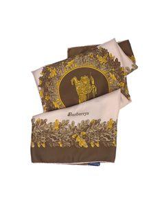 Burberry Vintage Print Silk Scarf
