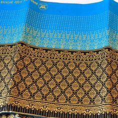 Stoff Polyester Überwurf Tischdecke Decke 1x2m gold hellblau