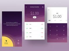 Currency convertor screens (WIP)