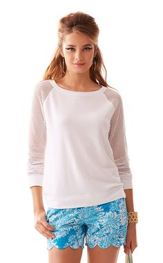 The Parker Pullover is a sweet sweater perfect for printed shorts. Wear this on our morning coffee run!